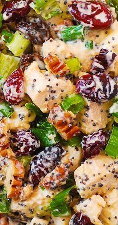 Pecan Chicken Salads, Chicken Salad Recipes, Salad Chicken, Cranberry Chicken, Keto Chicken, Healthy Chicken, Cooking Recipes, Healthy Recipes, Fast Recipes