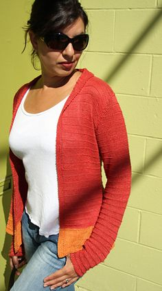 flaming june. knitted summery cardigan pattern.