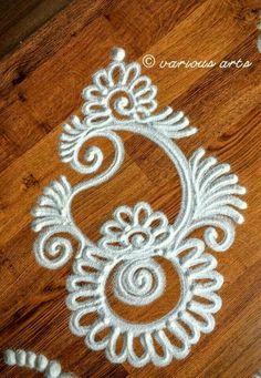 Simple Rangoli Design … Source by kajarim. Easy Rangoli Designs Videos, Indian Rangoli Designs, Simple Rangoli Designs Images, Rangoli Designs Latest, Rangoli Designs Flower, Rangoli Border Designs, Small Rangoli Design, Colorful Rangoli Designs, Beautiful Rangoli Designs