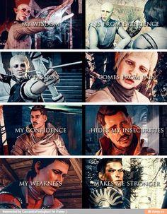 Solas, Sera, Dorian, Cassandra - Dragon Age: Inquisition
