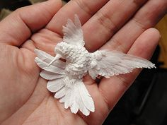 Check out Cheong-ah Hwang's self-taught method of 3D paper art.