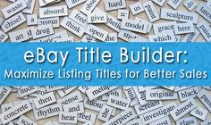 We are excited to share a blog post that we wrote for Terapeak, an online research tool for eBay and Amazon sellers to grow their businesses. The blog, titled Use Title Builder to Make Better eBay Listing Titles and Grow Your Sales, discusses best practices for writing eBay listing titles and how to use Terapeak's free eBay title builder. Here's what you'll find in this article:  Why titles are important How to choose keywords for listing titles How to write optimized titles How to find…