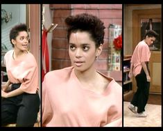 Ms huxtable in rosé and black.