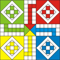 Ludo is a Great Party Board Game. Using our Free Printable Ludo Game Board, you and up to 3 of your friends can enjoy! Family Game Night, Family Games, Games For Kids, Board Game Template, Printable Board Games, Diy Games, Math Games, Articulation Activities, Youth Activities