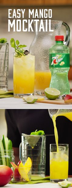 The Mango Mint Cooler is a sweet, refreshing, non-alcoholic sip of deliciousness. Mix it up for brunch, BBQs, and backyard parties. (non alcoholic drinks for wedding) Refreshing Drinks, Summer Drinks, Fun Drinks, Party Drinks, Healthy Drinks, Non Alcoholic Drinks, Cocktail Drinks, Frou Frou, Smoothies