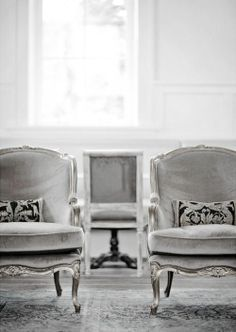 grey victorian chairs