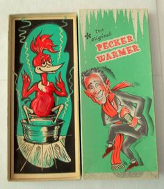 The original Pecker Warmer gag gift by Spotteddogvintageart