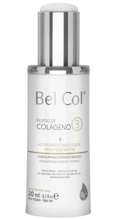 Hidratante Anti Idade Bel Col Fluido de Colágeno 3 Peles Mistas