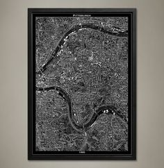Map Print, PITTSBURGH - Map Prints by GeoArtShed  - 1