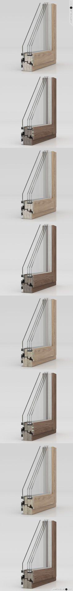 ARTVIZLAB | 3D renderings of windows and doors | 3d@artvizlab.com #render #rendering #artwork #artvizlab #wood #windows #glasses #walnut #oak #lvl #view #2017 #november #разрез