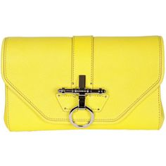 Obsedia Evening Mini Bag Bright Yellow ($1,305) ❤ liked on Polyvore