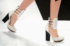 Noir Et Blanc MBFW Structural and Strappy Heels BCBG MAX AZRIA 9521 |2013 Fashion High Heels|
