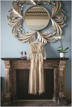 Bespoke Gold Wedding Dress: http://wildenbridelondon.com   Photography: http://www.kat-hill.com
