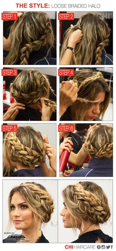 Hair HOW-TO: Loose Braided Halo from #PRAllStars   CHI Haircare #CHITopPin