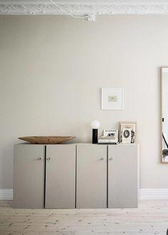 Wonderful living room with an incredible IKEA Ivar hack via Krone Kern Source by ariseva Bedroom Furniture Design, Home Decor Styles, Room Design, Interior, Living Room Design Diy, Staining Furniture, Living Room Diy, Geometric Furniture Design, Ikea Ivar