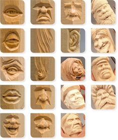 Simple Wood Carving, Wood Carving Faces, Dremel Wood Carving, Wood Carving Designs, Wood Carving Patterns, Wood Carving Art, Whittling Projects, Whittling Wood, Learn Woodworking