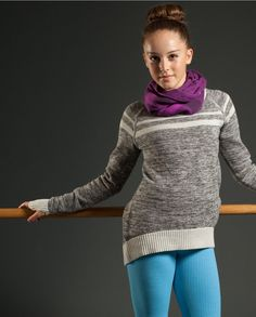 make barre warm-up a cinch in the cozy Cotton Knit fabric Savasanawesome Pullover Ivivva