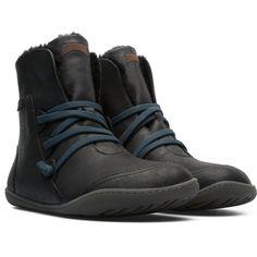 a764b372fb9b Camper Peu Black Casual Shoes Women 46477-043 Black Casual Shoes