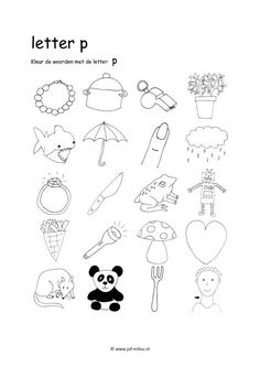 Werkbladen - taal - letters leren ~ Juf Milou Grade R Worksheets, Preschool Worksheets, I Love School, Pre School, Speech Language Therapy, Speech And Language, Teaching Writing, Writing Skills, Letter Of The Week