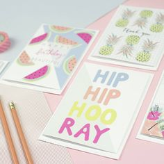 'Sweet Tropics' Greetings Card Pack