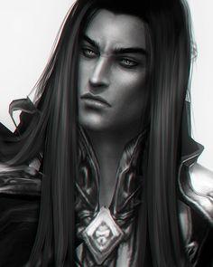 Repost ・・・ Lord of the Dark Melkor/Morgoth Bauglir ❤ Fantasy Magic, Fantasy Art Men, High Fantasy, Medieval Fantasy, Fantasy World, Male Fairy, Morgoth, Concept Art Gallery, Vampire Art