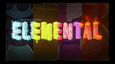 Elemental - title card designed & painted by Joy Ang premieres Thursday, May 19th at 7:45/6:45c on Cartoon Network