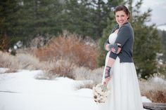 """The token """"yay I was a bride look at me look at me"""" picture. :P  Photo by @Emily Scott    kim + will : a tahoe winter wedding - Em the Gem"""