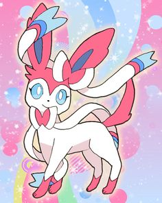 Sylveon, the fairy type, that most people forget