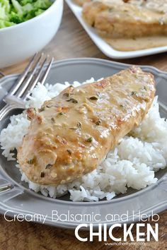 What's for dinner tonight? Try this easy and delicious Creamy Balsamic and Herb Chicken the entire family will love!