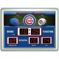 Team Sports America MLB ScoreBoard Wall Clock with Thermometer & Reviews | Wayfair