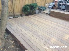When working on decking plans, it is common saying that the material used determines the ultimate decking outcome. Choosing the right decking material is thus Ground Level Deck, How To Level Ground, Laying Decking, Deck Pictures, Decking Material, Deck Builders, New Deck, Deck Plans, Building A Deck
