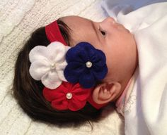 Fourth of july headband Felt Flower by LexysClassicBowtique on Etsy, $8.50