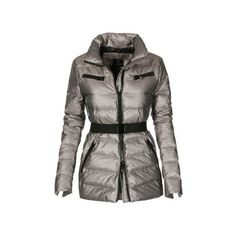 Down quilted jacket ($230) ❤ liked on Polyvore featuring outerwear, jackets, woven jacket, slim fit jackets, stand up collar jacket, slim jacket and tailored jacket