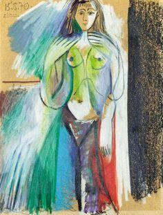 Pablo Picasso, 1970 Nu debout on ArtStack #pablo-picasso #art