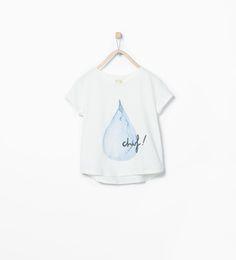 ZARA - NIÑOS - Camiseta dibujo y texto