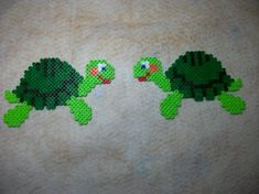 Frogs hama perler beads by Nath Hour