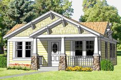 [ House Plans California Craftsman Bungalow Small Cottage Home ] - Best Free Home Design Idea & Inspiration Craftsman Bungalow House Plans, Bungalow Floor Plans, Craftsman Cottage, Cottage Plan, Craftsman Bungalows, Cottage Homes, House Floor Plans, Cottage Style, Small Bungalow