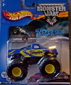 Amazon.com: Hot Wheels Monster Jam Metal Collection 2002 THRASHER Collectible Truck 1:64 Scale: Toys & Games