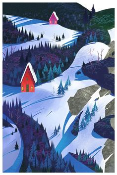 Winter Woodland by Mike Yamada #illustration