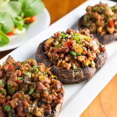Sausage Stuffed Portobellos These Grain Free and Gluten Free, Sausage Stuffed Portobello Mushrooms, make a hearty dish packed with bold Italian flavors.  It's simple enough for a weeknight, yet impressive enough for company! #paleo #primal #grainfree #glutenfree #stuffedmushrooms #portobellos