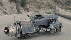 Falcon hoverbike by retro futurism, cyberpunk, cool cars, steampunk, Scrap Mechanics, Carros Vw, Hover Bike, Arte Steampunk, Gothic Steampunk, Sculpture Metal, Arte Robot, Flying Car, Flying Ship