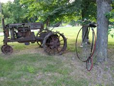 High wheel and tractor