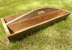 Antique Vintage Large Wood Tool Box Tote Caddy Tray Carrier Carpenter Primitive!