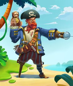 Character design on courses with Denis Zilber The Pirates, Pirates Of The Caribbean, Pirate Games, Pirate Theme, 2d Character, Character Design, Denis Zilber, Pirate Illustration, Maya Modeling