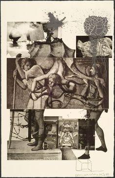 Robert Rauschenberg, Bellini from Bellini Series … Collages, Collage Art, Robert Rauschenberg, James Rosenquist, Neo Dada, Pop Art Movement, Photocollage, A Level Art, Cultura Pop