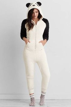 AEO Panda Onesie  by AEO | Get cozy—and bring a friend. Shop the AEO Panda Onesie  and check out more at AE.com.