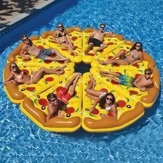 Pizza Slice Pool Float (Brookstone has pineapple, flamingo, pizza)