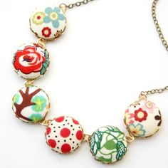 calico necklace, $42. linked from two birds' blog