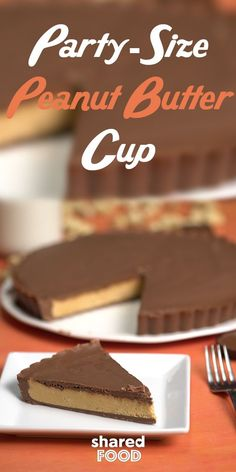 I don't know about you, but I can never get my fill of Reese's Peanut Butter Cups. I've finally stumbled upon a solution - this Party-Size Peanut Butter Cup! This is perfect for a party, because this peanut butter cup is made for sharing! Pull out that trusty tart pan and give this delicious dessert a try!