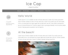 "Here is the latest theme from wordpress and the name of this theme is ""Ice Cap"" but I must say that this theme is not very pretty by its looks. According to me this theme is only a model to see but it couldn't be use by any blogger it has no unique or extra features."